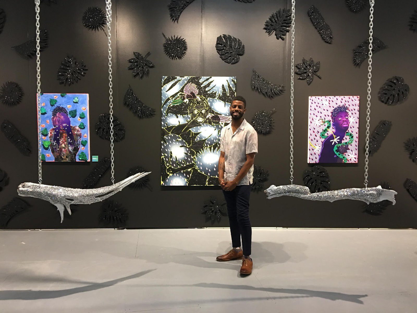 Devan Shimoyama, Cry Baby, The Andy Warhol Museum. Image courtesy of the museum.